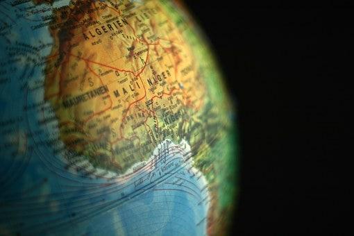 Posizione geografica dell'Algeria sul Continente Africano