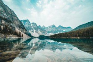 paesaggio incantevole del Canada