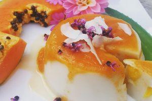 Dessert di papaia al forno
