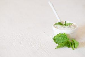 Yogurt e salsa di menta