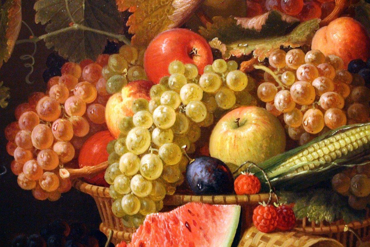 influenza del cibo nella pittura